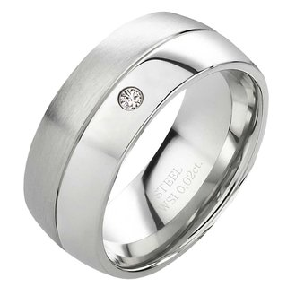Verlobungsring Antragsring Aus Edelstahl Mit Echtem Diamant 79 95