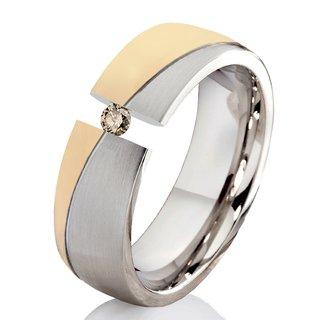 Verlobungsring Antragsring Aus Edelstahl Mit Echtem Diamant 119 95